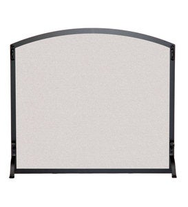 Flat Fireplace Screen With Arched Top