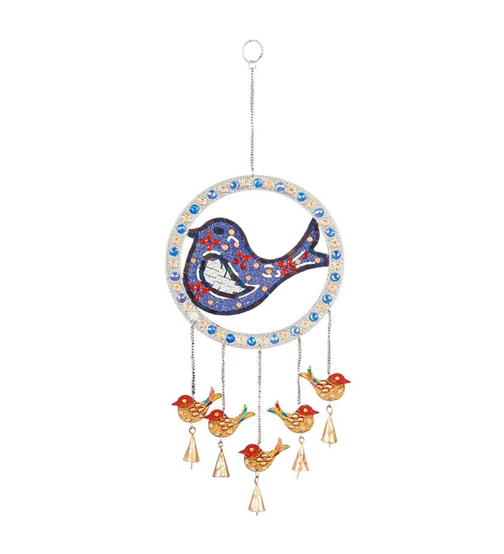 Beaded Metal Pollinator Wind Chime
