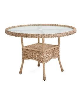 Prospect Hill Wicker Round Dining Table - Cloud White