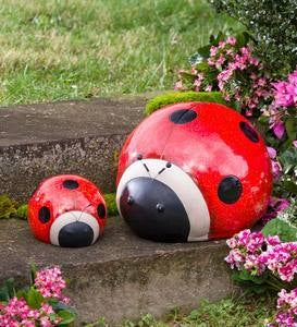Oversized Ladybug Garden Accents, Set of 2