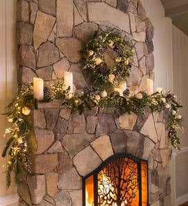 Winter White Faux Holiday Garland