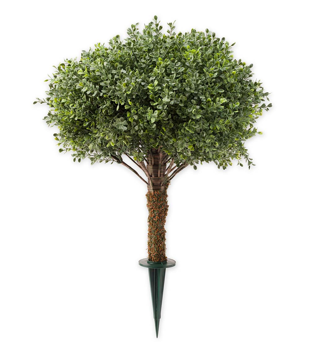 "Faux Boxwood Topiary Sphere, 15"" dia."