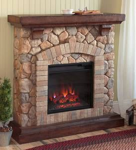 Stacked Stone Electric Infrared Quartz Fireplace Heater