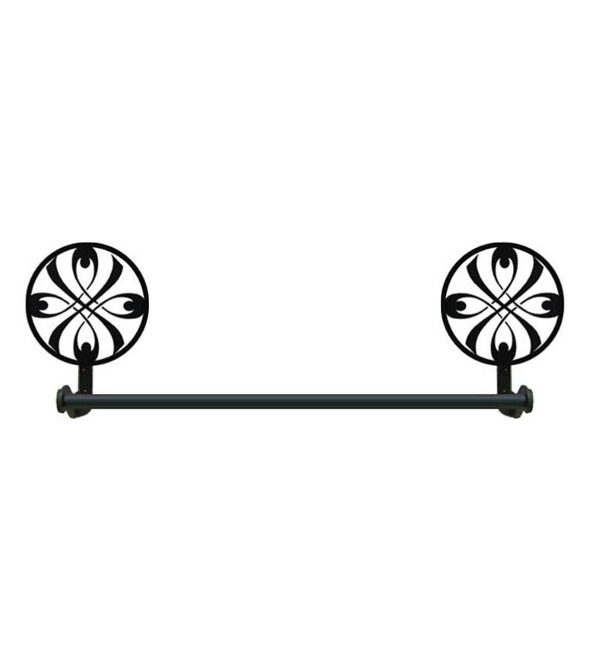 USA-Made Wrought Iron Small Decorative Towel Bar