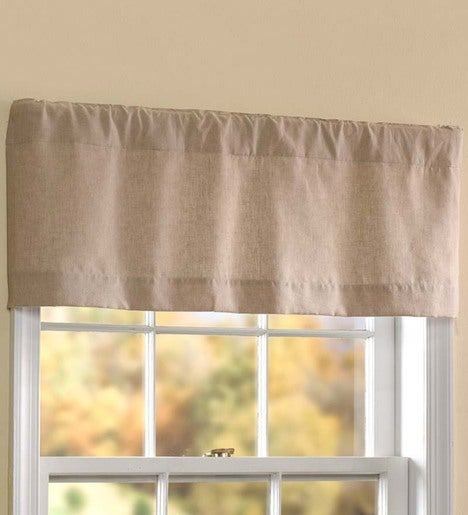 "Homespun Double-Lined Curtain Valance, 40""W x 14""L"