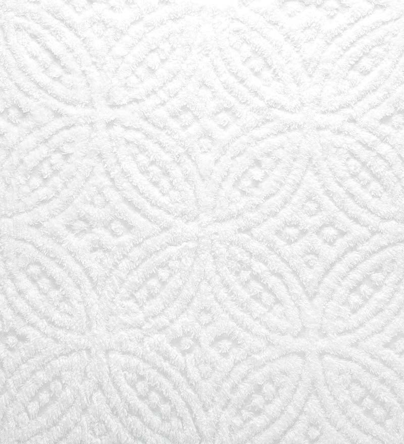 Wedding Ring Tufted Chenille Sham
