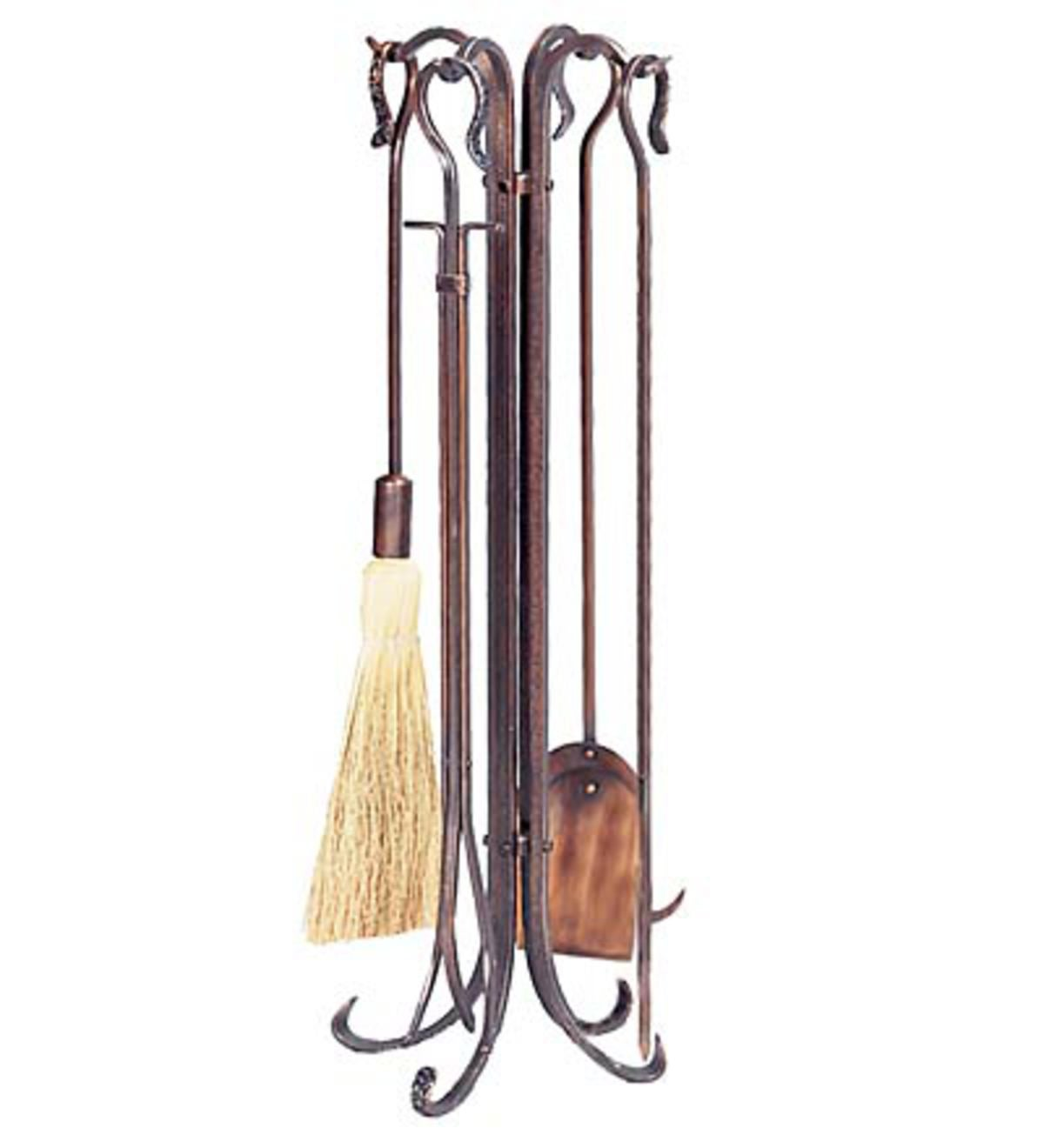 Hammered Crook Fire Tools