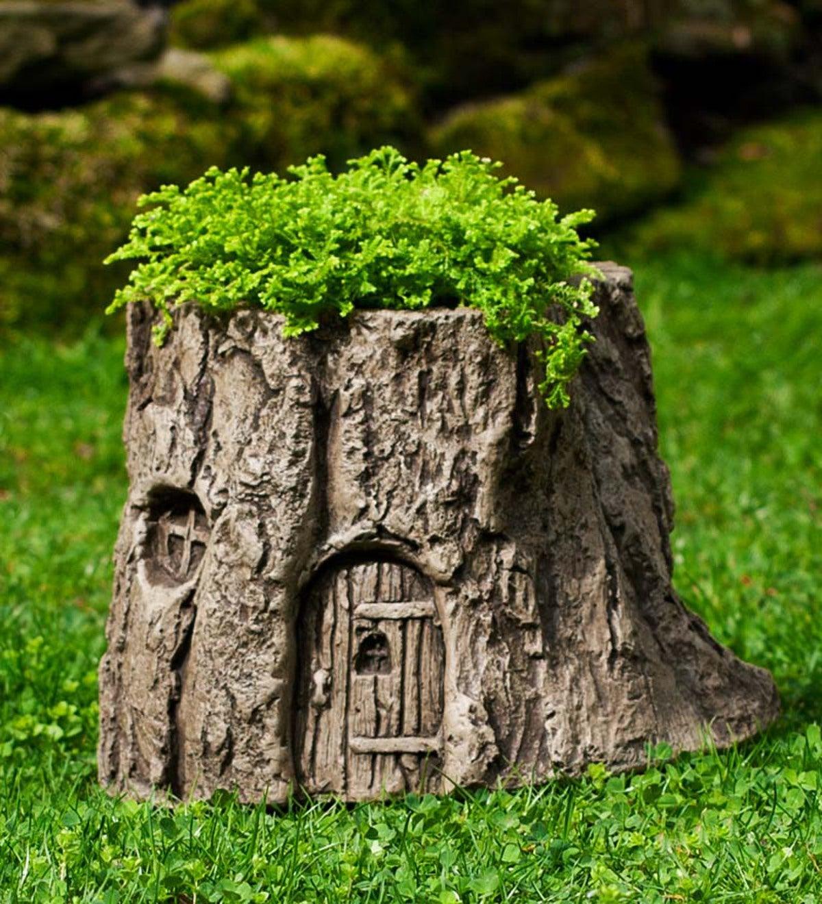 USA Made Cast Stone Handcrafted Fairy Garden Planter