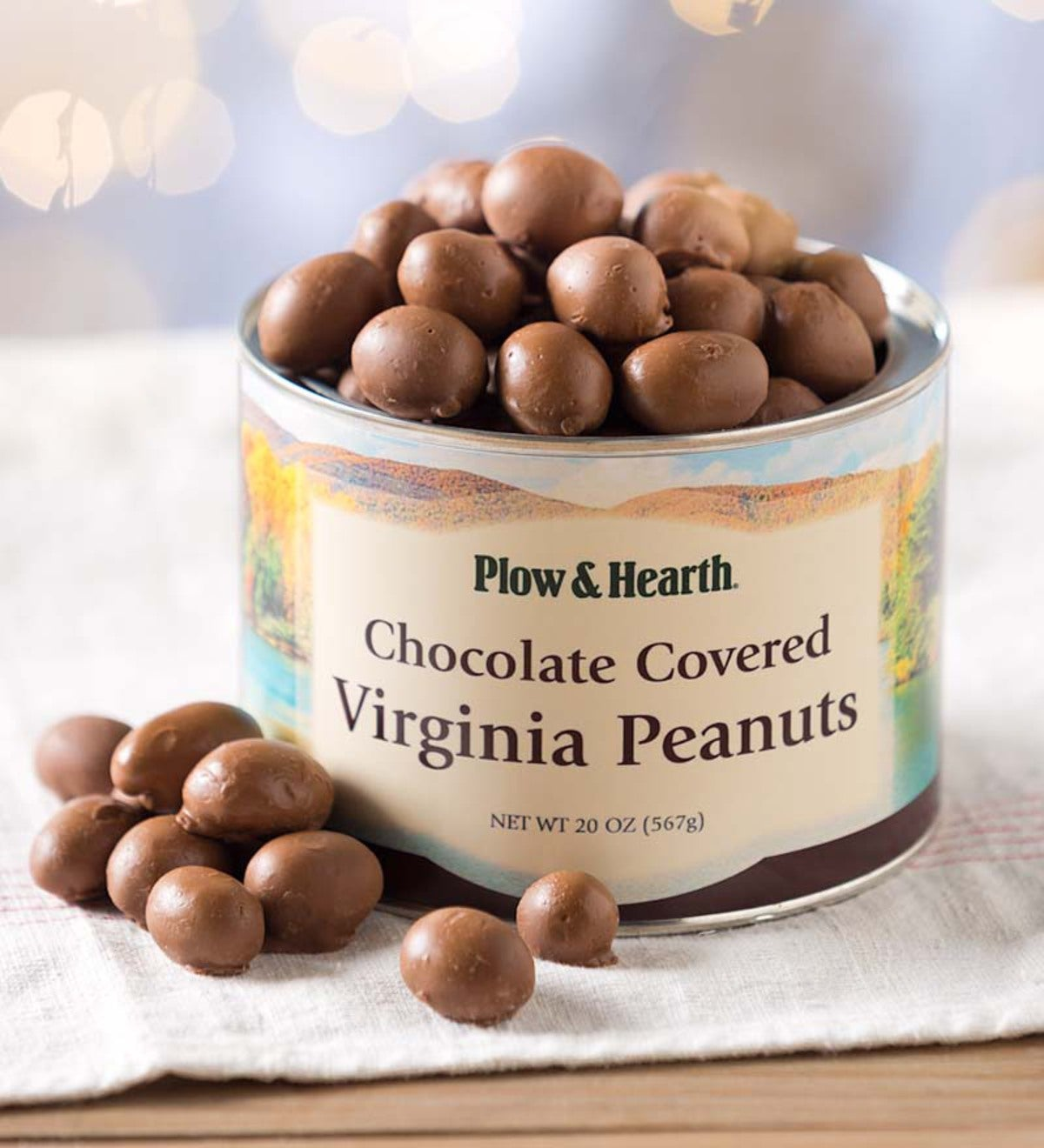 Chocolate-Covered Virginia Peanuts, 20 oz. Resealable Tin