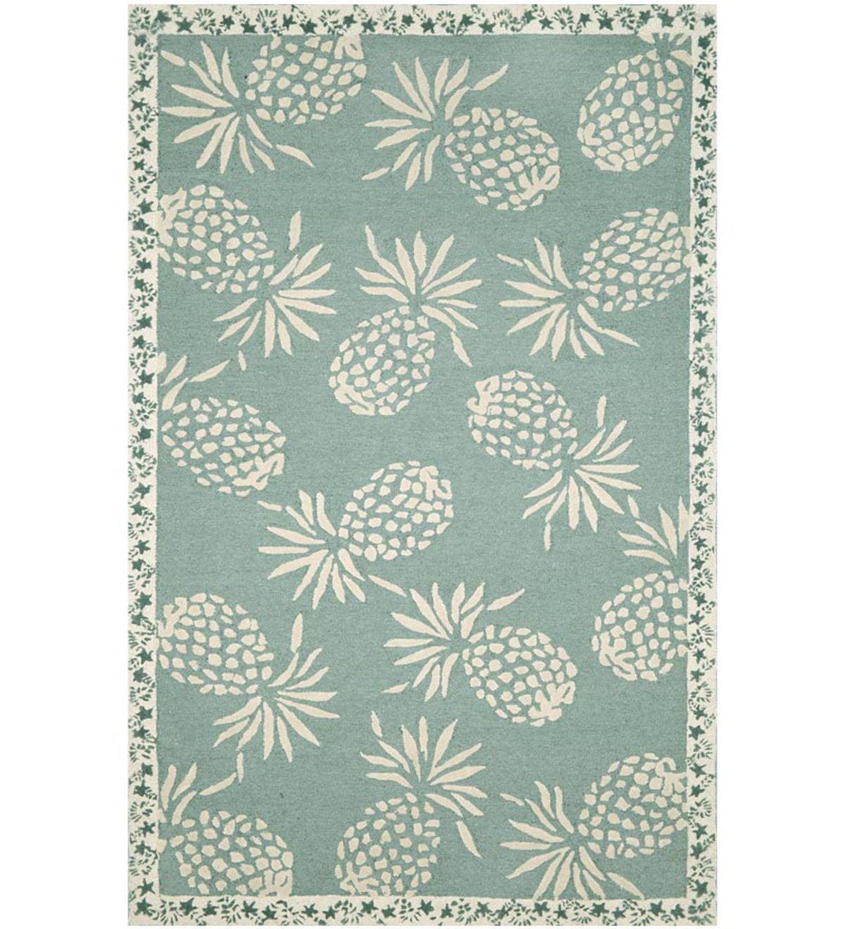 24x 36polypropylene pineapple indoor outdoor rug