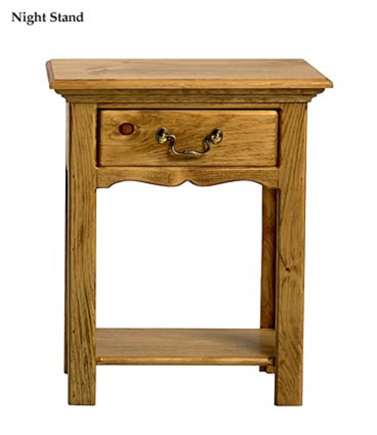 Plow And Hearth Furniture: Sleigh Bed And Nightstand