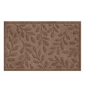 "22-1/2""W x 35-1/4""L Medium Leaves Waterhog Doormat - Dark Gray"