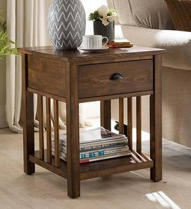Arts and Crafts Mission Side Table with Charging Station