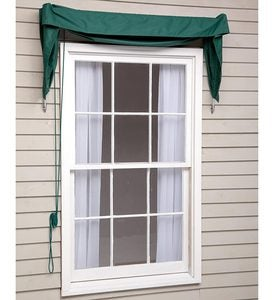 4' Straight Edge Window And Door Awning - Green