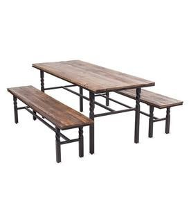 Deep Creek Dining Set, Table and Two Benches