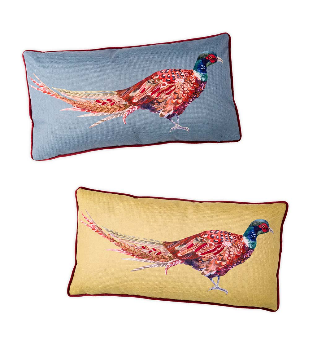 Colorful Pheasant Lumbar Throw Pillow