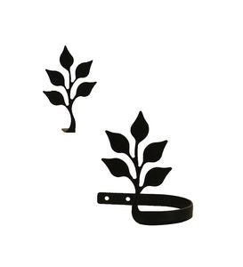 USA-Made Wrought Iron Curtain Tiebacks