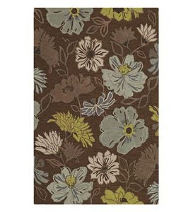 "5' x 7'6""Garden Flowers Rug - Chocolate"