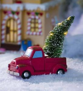 Mini Holiday Truck with Lighted Tree