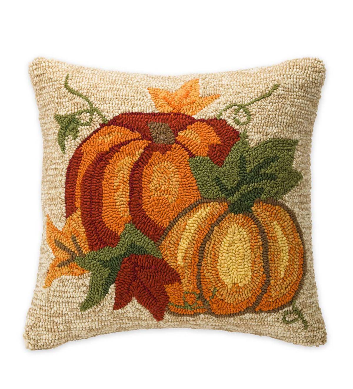 Indoor Outdoor Pumpkin Throw Pillow Plowhearth