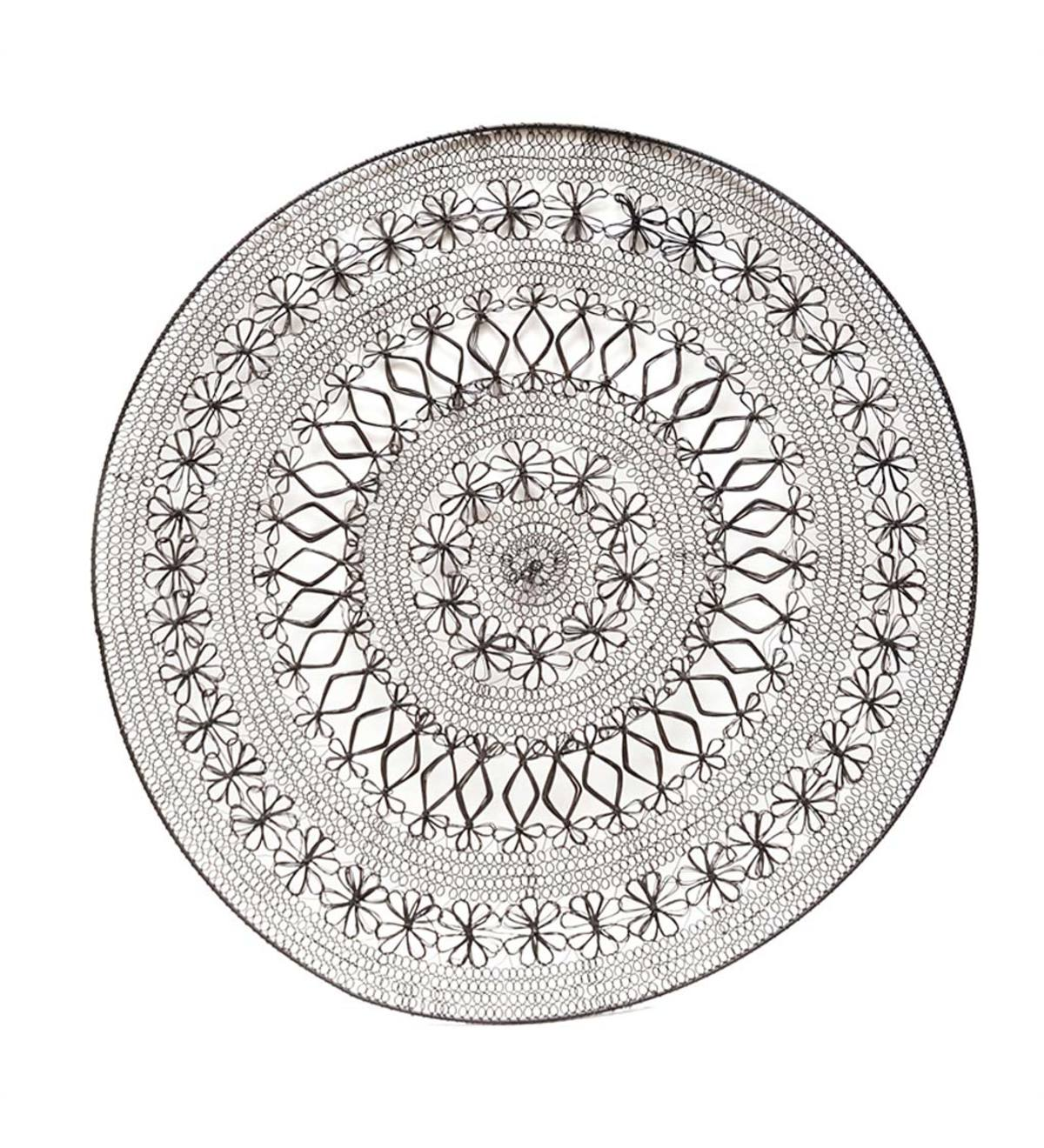 Woven Metal Medallion Wall Art