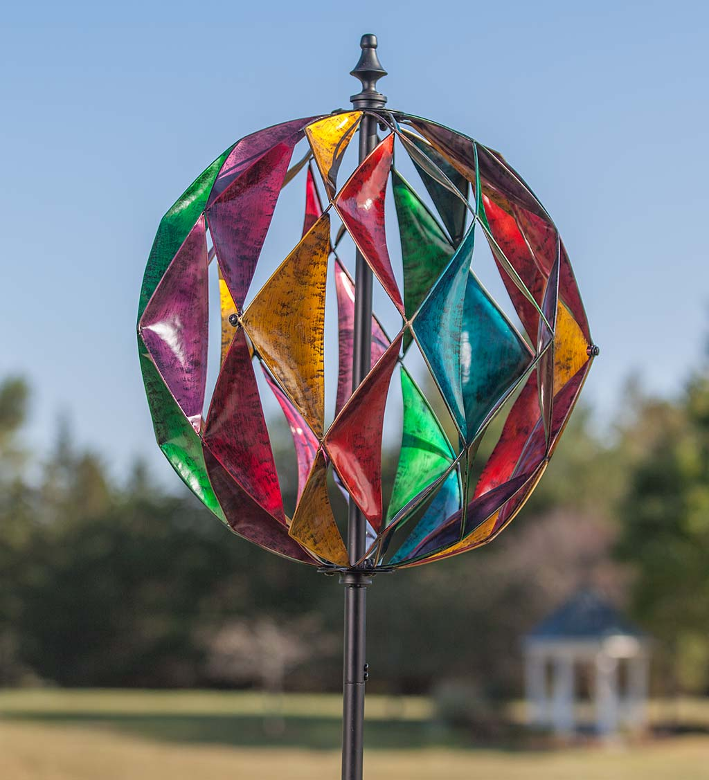 Harlequin Ball Wind Spinner