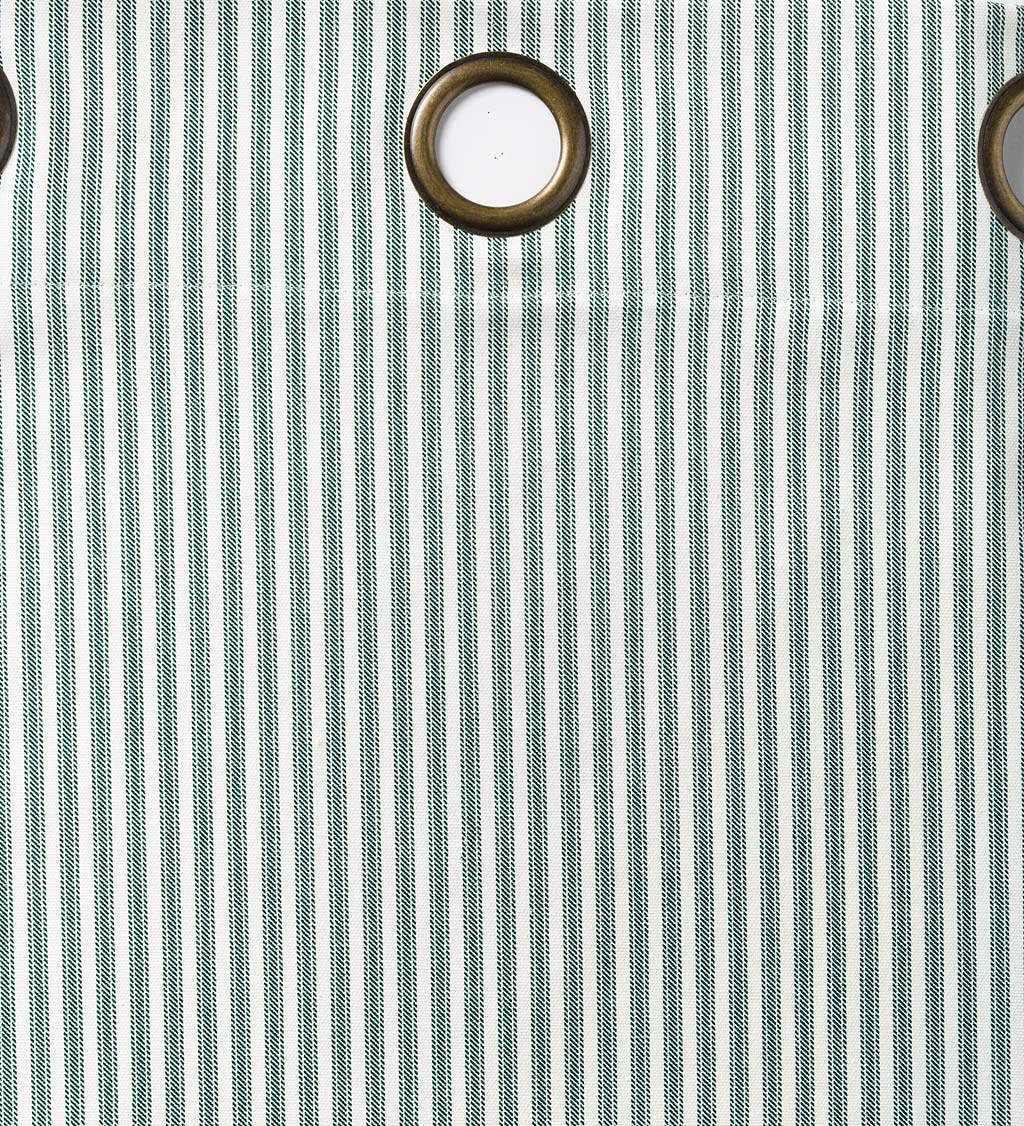 "Thermalogic Insulated Ticking Stripe Grommet Top Curtain Pair, 95""L"