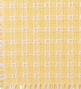 "Homespun-Cotton Reversible Tablecloth, 52""x 72"" - Gold/White"
