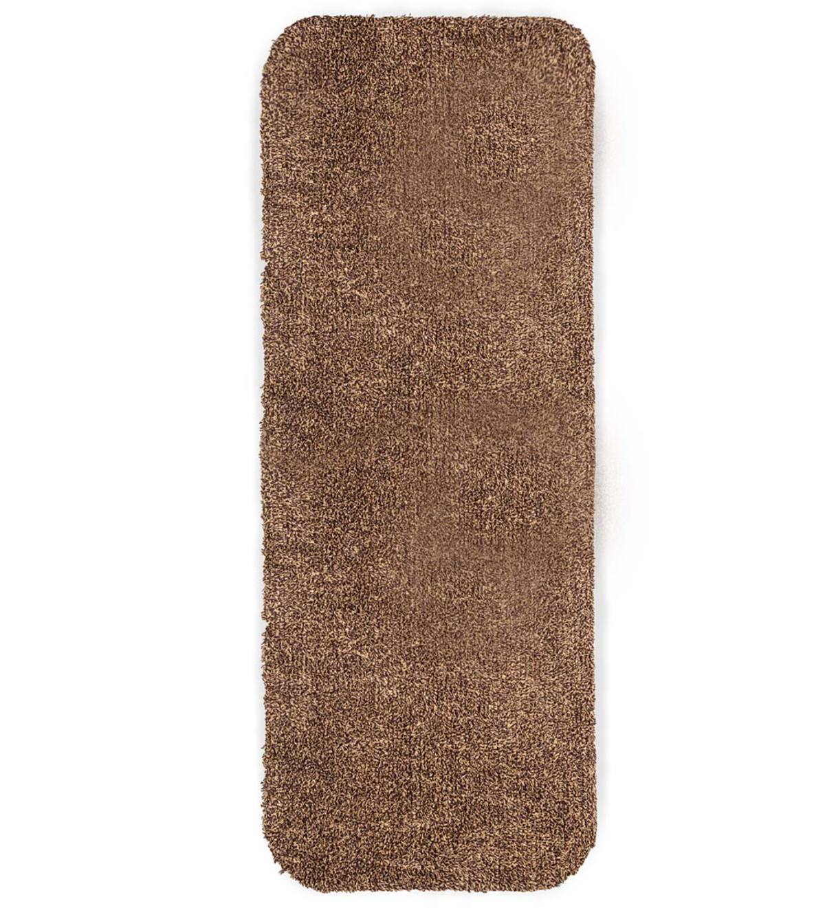 "Microfiber Mud Rug With Non-Skid Backing, 29"" x 58"" Runner - Brown"