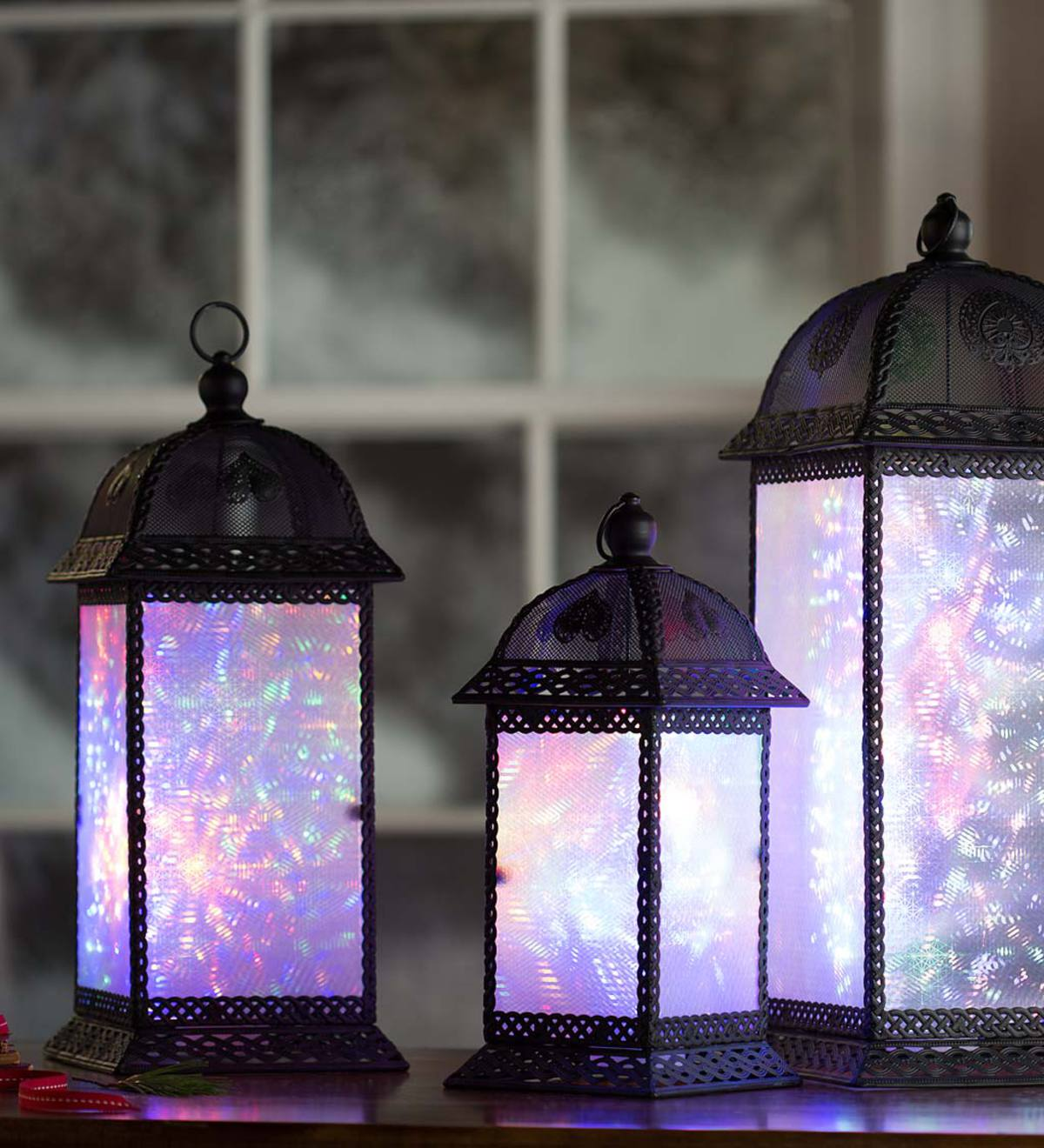 Color Changing Twirling Starlight Lantern, Small