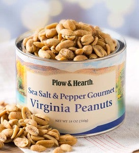 Sea Salt and Pepper Virginia Peanuts, 18 oz. Resealable Tin