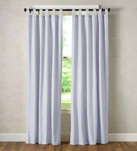 Thermalogic Insulated Ticking Stripe Tab Top Curtain Pairs