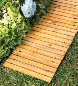 6' Portable Roll-Out Straight Cedar Pathway