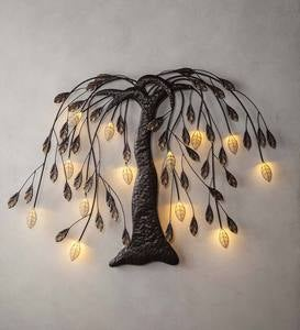 Lighted Willow Tree Wall Art