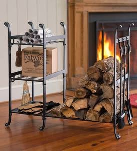 All-In-One Wood Rack with Tools