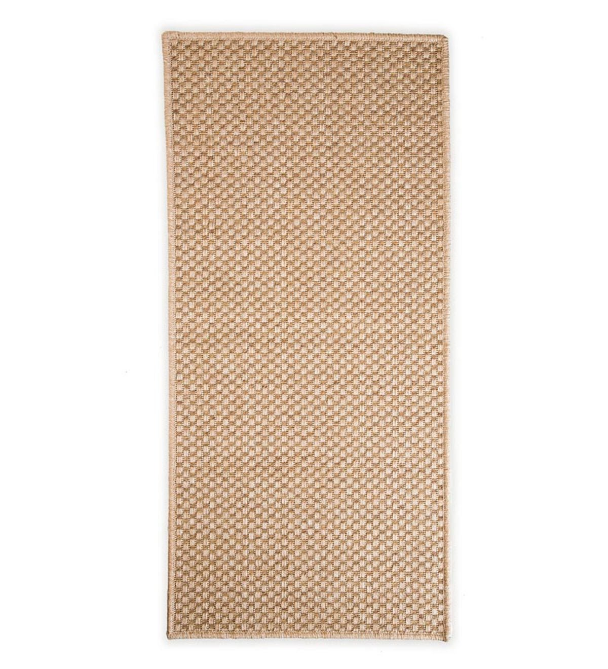 "7'10""x 10'10""Laurel Indoor and Outdoor Seagrass Look Rug In Neutral Patterns - Basket Weave"