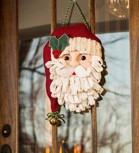 Plush Santa Door Decor Hanging Holiday Accent