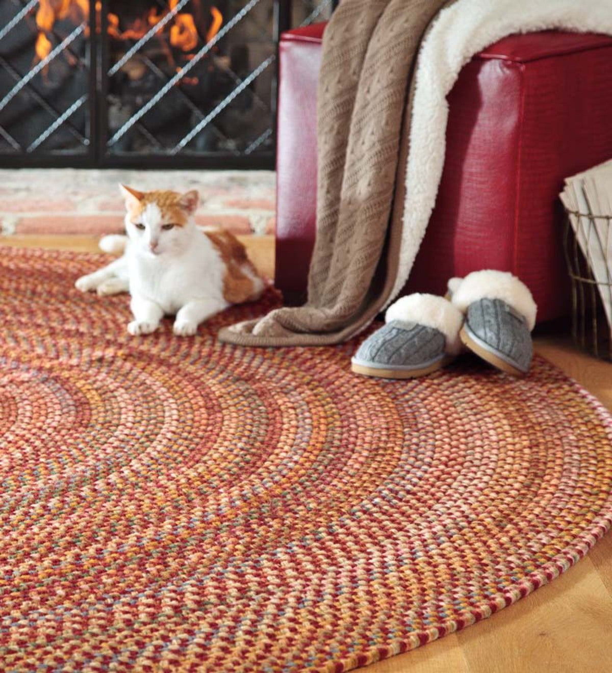 Round Wool Braided Rugs
