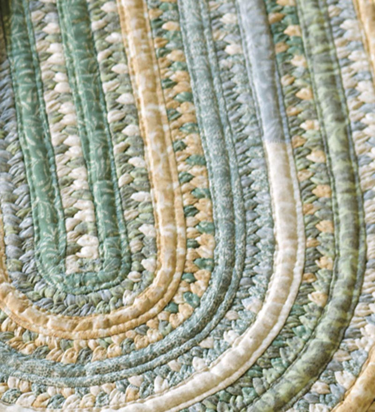 Oval Braided Rug, 5'W x 7'L - Sage