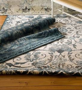 Charleston Scroll Performance Rug