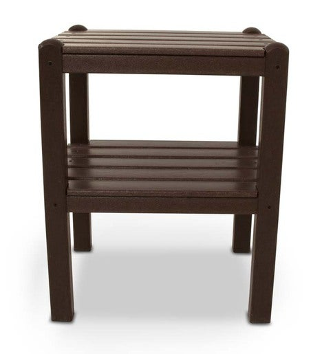 Low-Maintenance American-Made POLYWOOD® 2-Tier Jefferson Accent Table