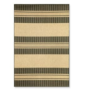 "23""x 35""Madison Stripe Indoor/Outdoor Rug - Charcoal"