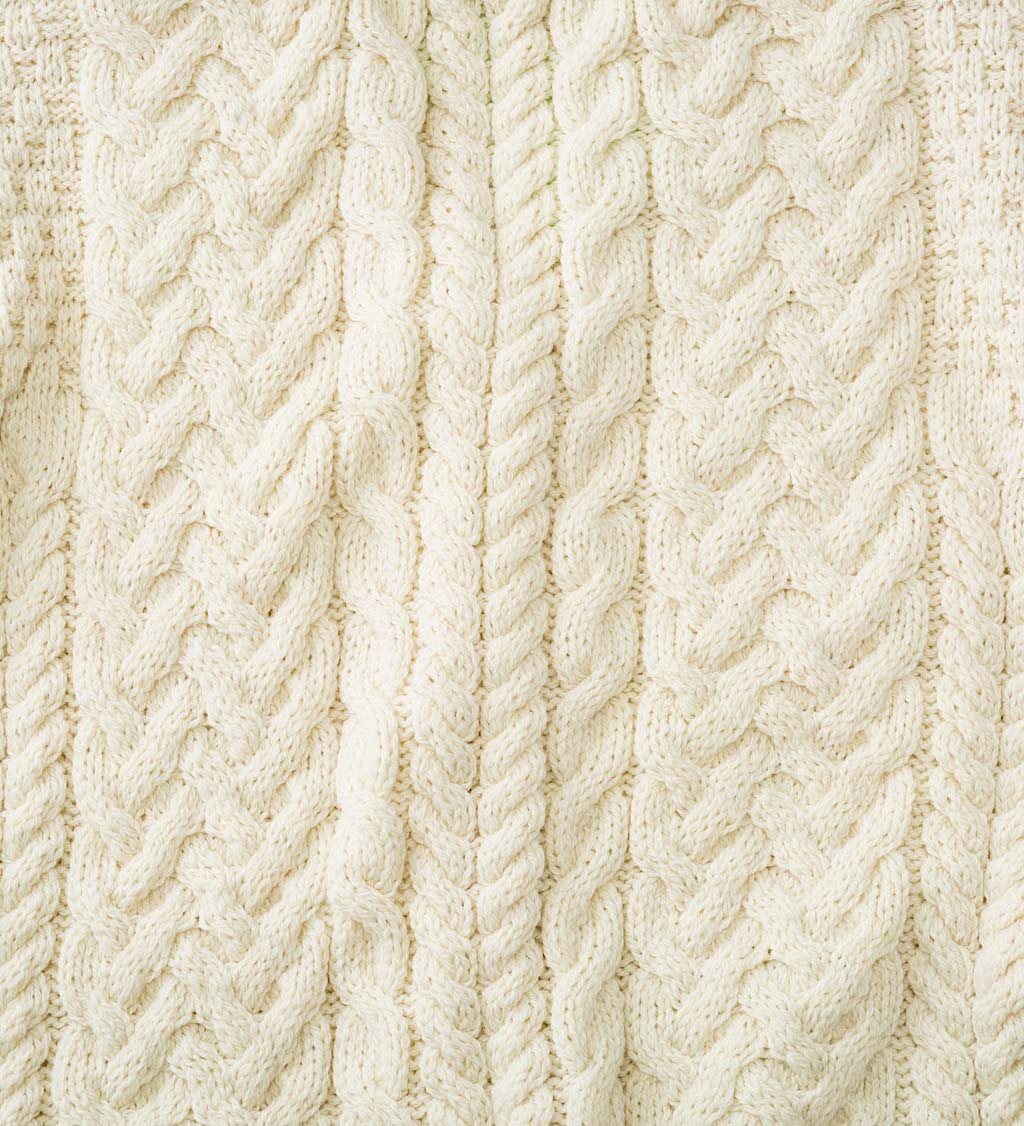 Women's Irish Merino Wool Cardigan Sweater swatch image