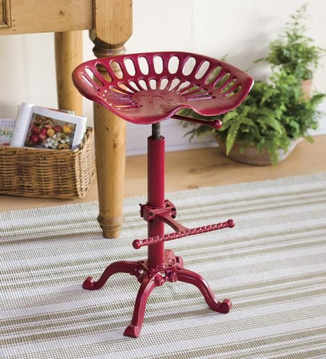 Farmhouse Metal Tractor Seat Stool