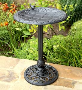 English Ivy Metal Birdbath