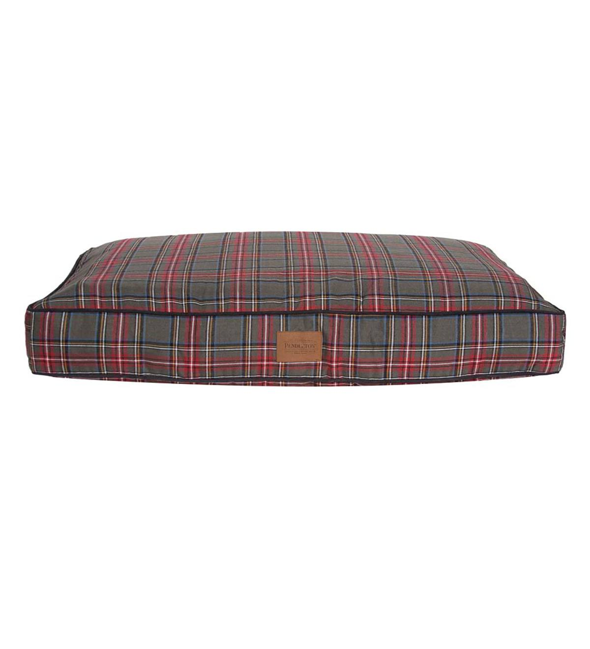 Pet Napper Grey Stewart Plaid Pet Bed, Large