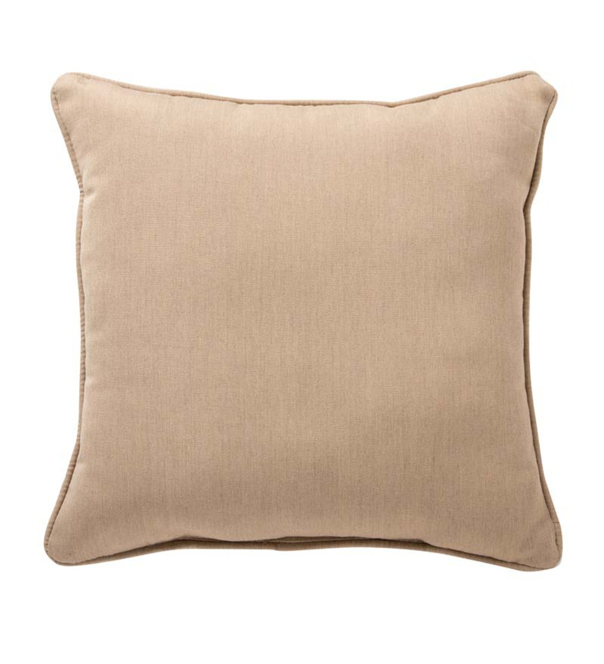 "15""sq. Sunbrella™ Deluxe Throw Pillow - Heather Beige"