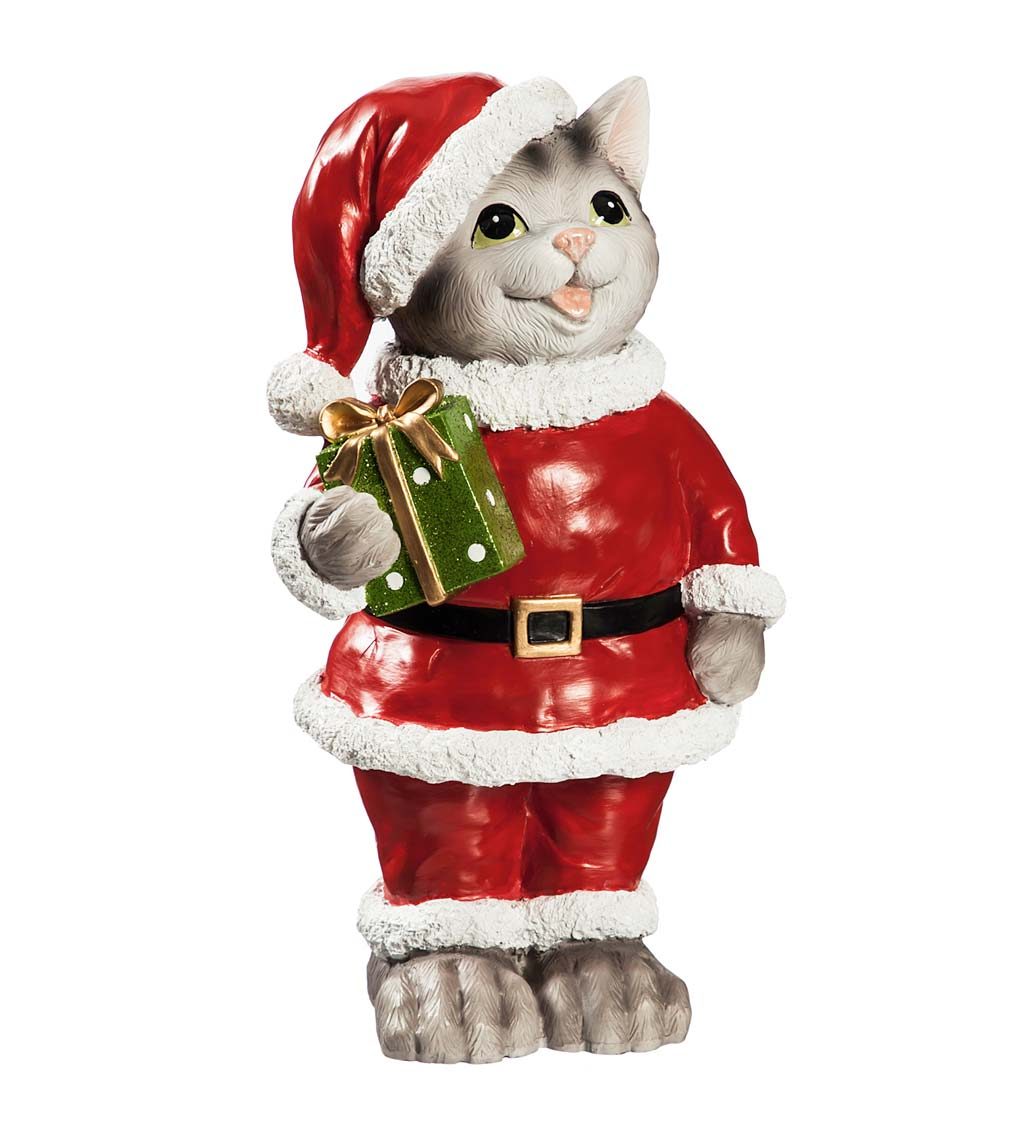 Pets Dressed in Their Holiday Best Garden Statuary, Set of 4