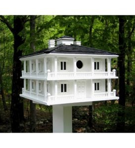Grand Clubhouse Birdhouse with Two Nesting Boxes - White