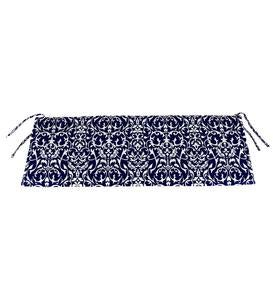 "Sale! Polyester Classic Swing/Bench Cushion, 47""x 16""x 3"" - Midnight Filigree"